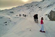 Raquetas de nieve en Picos de Europa.